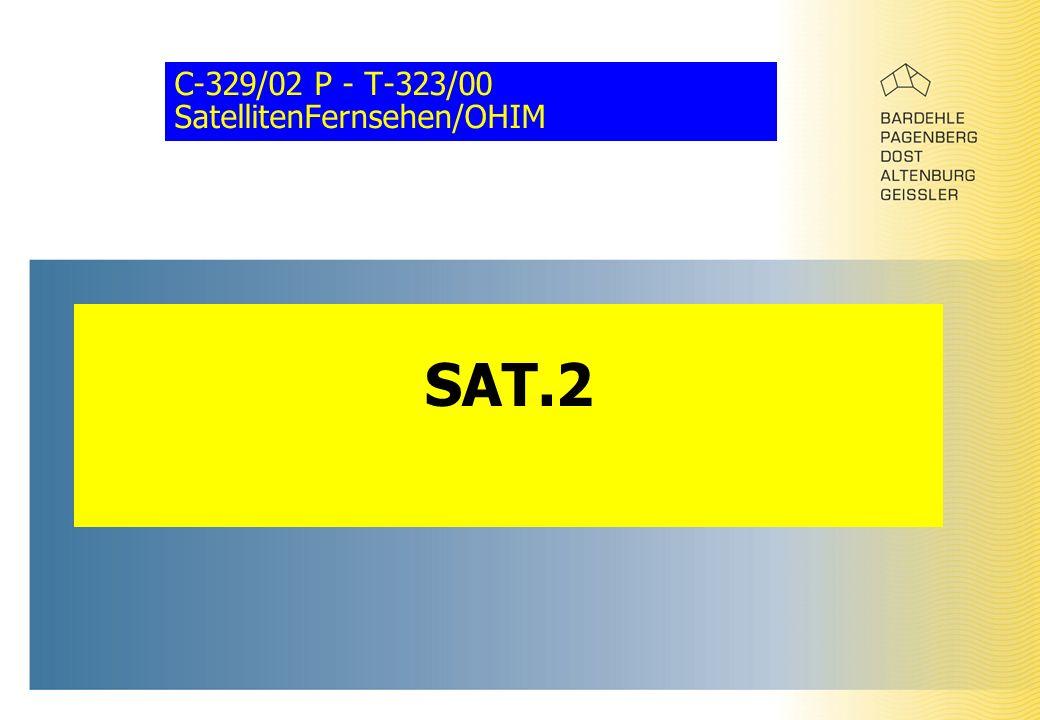 C-329/02 P - T-323/00 SatellitenFernsehen/OHIM SAT.2