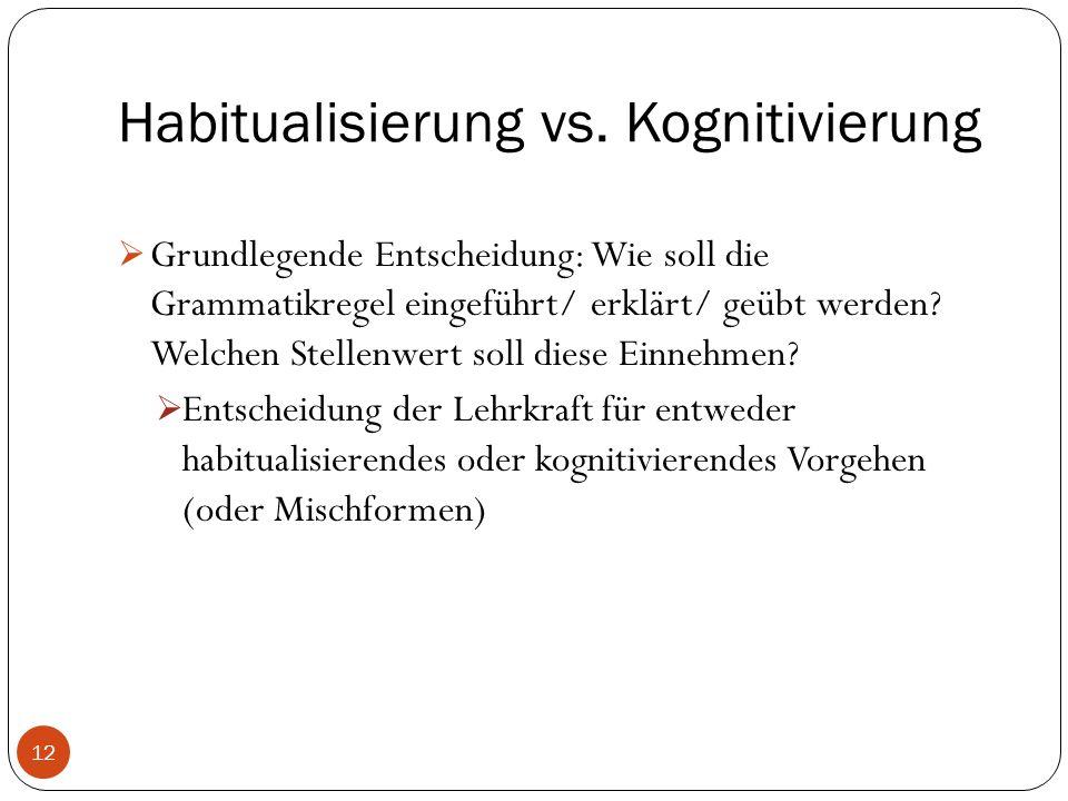 Habitualisierung vs.