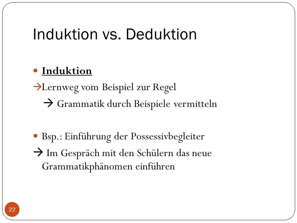 Induktion vs.