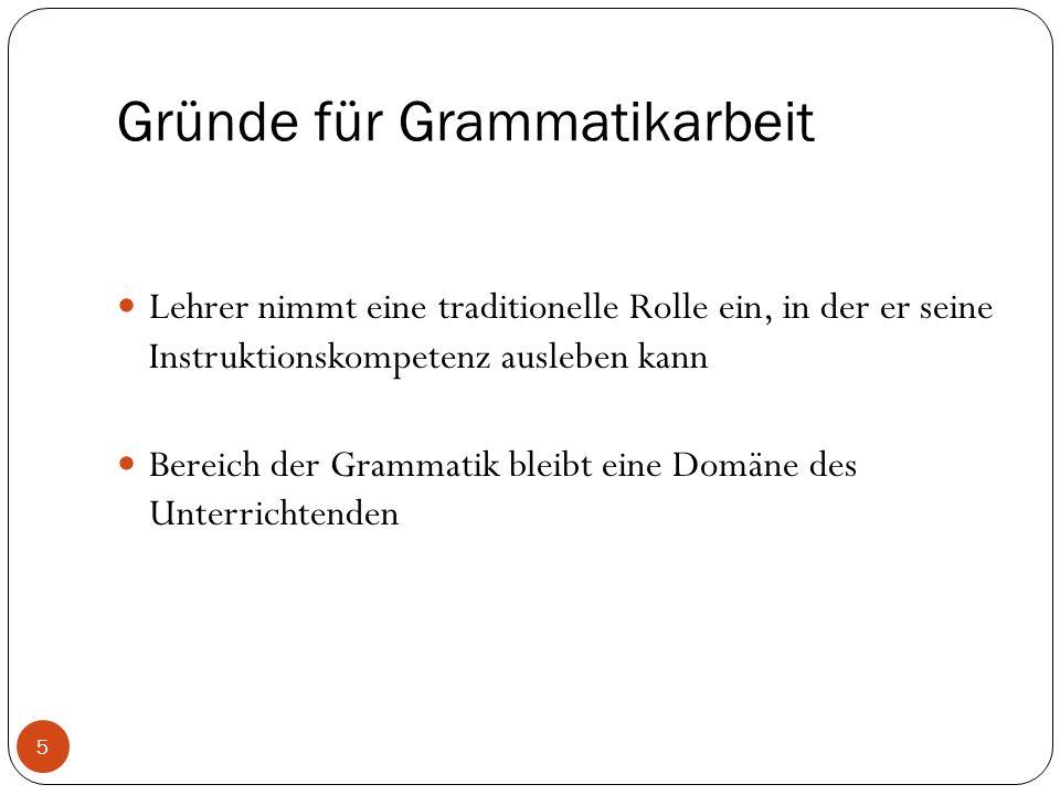 Einsprachigkeit vs.Zweisprachigkeit Grammatikvermittlung auf Deutsch oder Spanisch/Französisch.