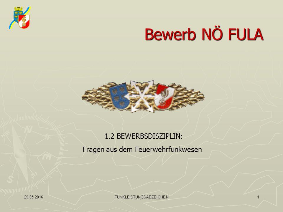 1.2 BEWERBSDISZIPLIN:Fragen aus dem Feuerwehrfunkwesen2 1.Welche Funkgespräche sind grundsätzlich verboten.