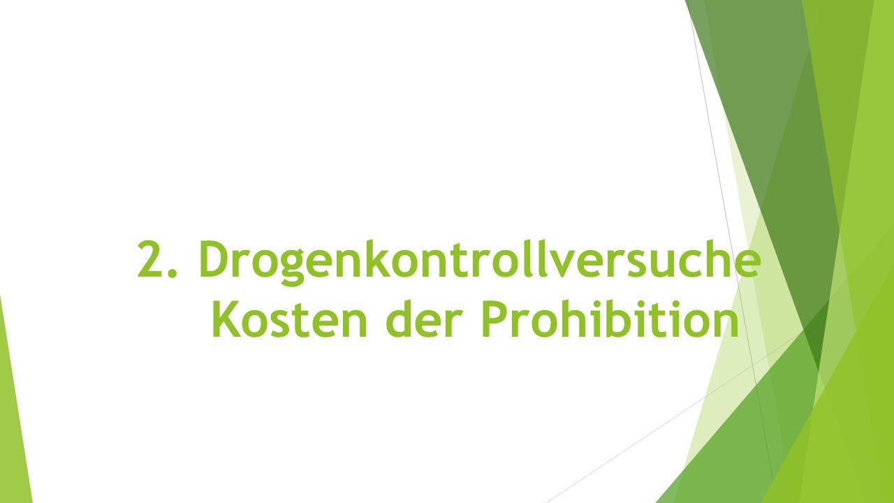2. Drogenkontrollversuche Kosten der Prohibition