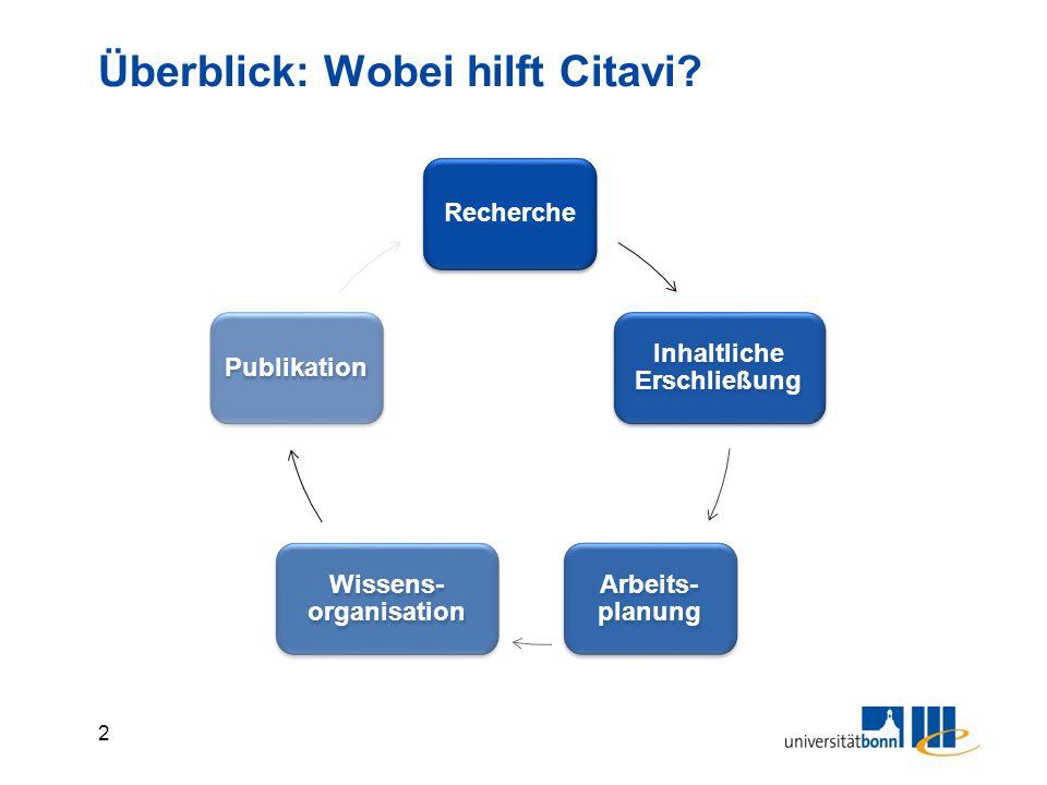 3 Überblick: Wie ist Citavi aufgebaut.