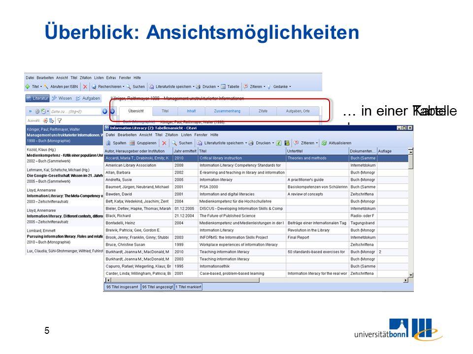 26 Import aus pdf-Dateien Aus bereits gespeicherten pdf-Dokumenten können Titeldaten importiert werden, wenn die folgenden Bedingungen alle erfüllt sind:  Das pdf ist ein Originalformat (kein eingescannter Text)  Das pdf hat eine DOI  Es besteht eine Internetverbindung (Citavi recherchiert in der Datenbank Crossref) Die pdf-Datei wird automatisch den Titeldaten angehängt.