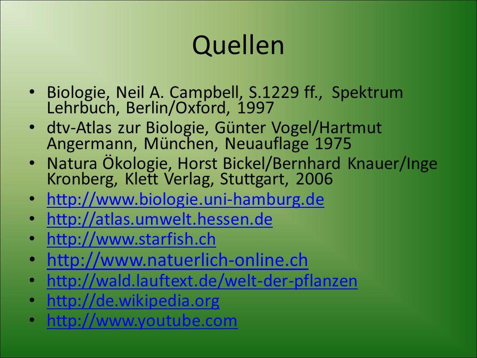 Quellen Biologie, Neil A. Campbell, S.1229 ff., Spektrum Lehrbuch, Berlin/Oxford, 1997 dtv-Atlas zur Biologie, Günter Vogel/Hartmut Angermann, München