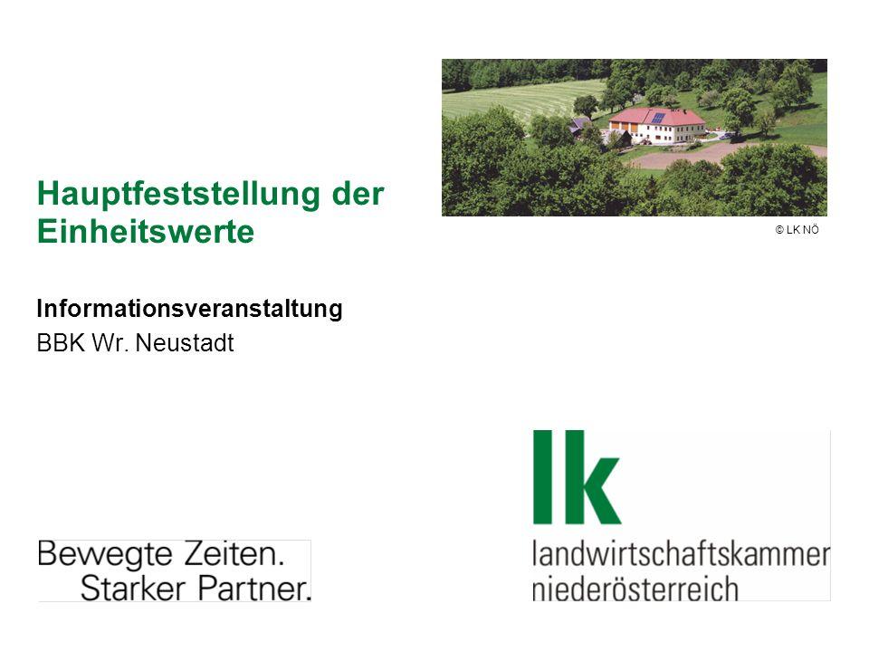 Hauptfeststellung der Einheitswerte Informationsveranstaltung BBK Wr. Neustadt © LK NÖ