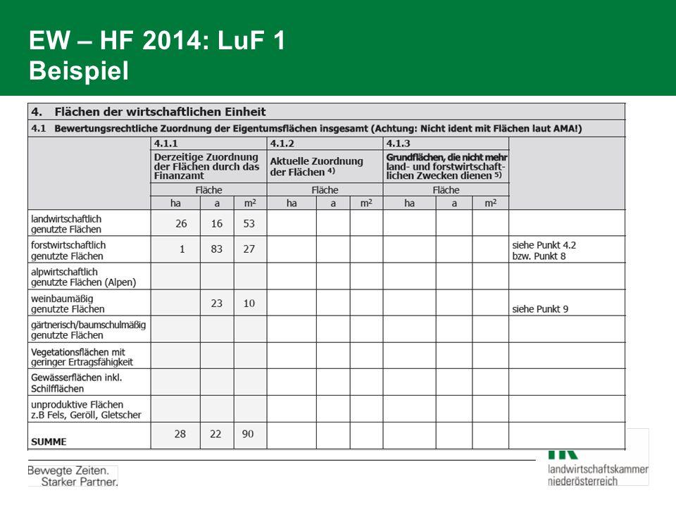 EW – HF 2014: LuF 1 Beispiel