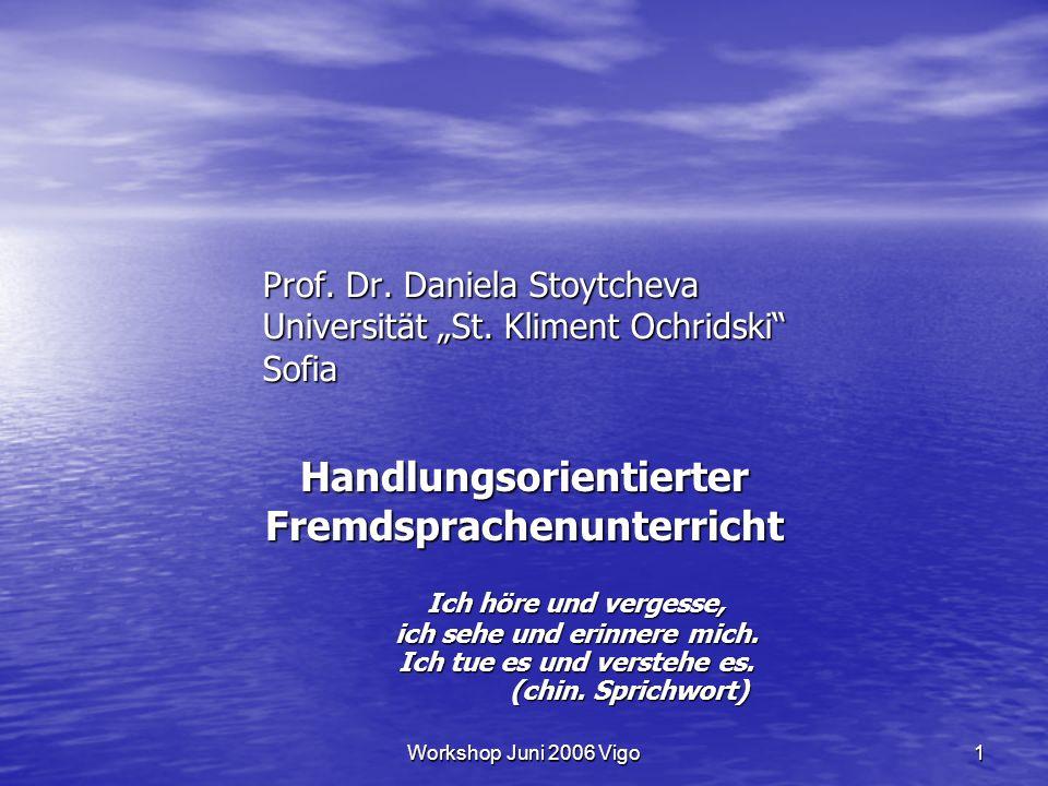 Workshop Juni 2006 Vigo32 Literatur Bauer, R.(2004): Offene Arbeitsformen.