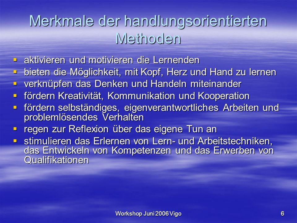 Workshop Juni 2006 Vigo7 Das Dreiphasenmodell des handlungorientierten Unterrichts 3.