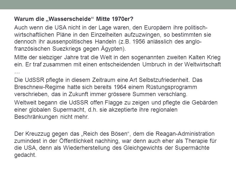 """Warum die """"Wasserscheide Mitte 1970er."""