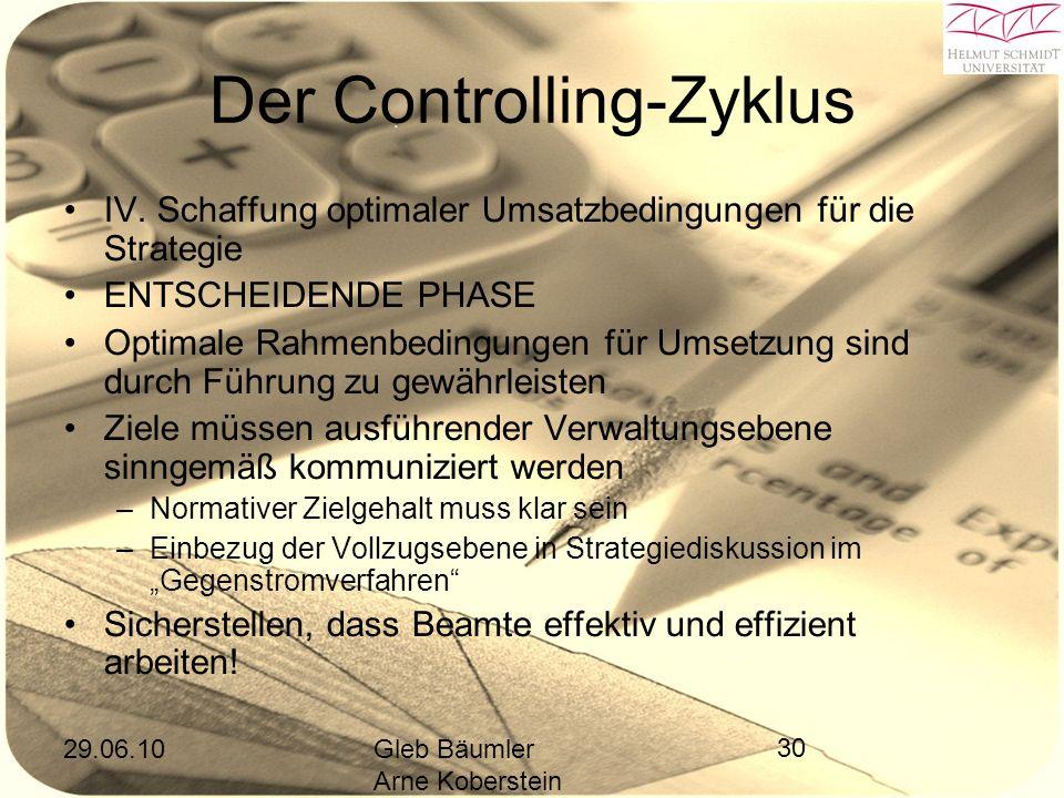 29.06.10Gleb Bäumler Arne Koberstein 30 Der Controlling-Zyklus IV.