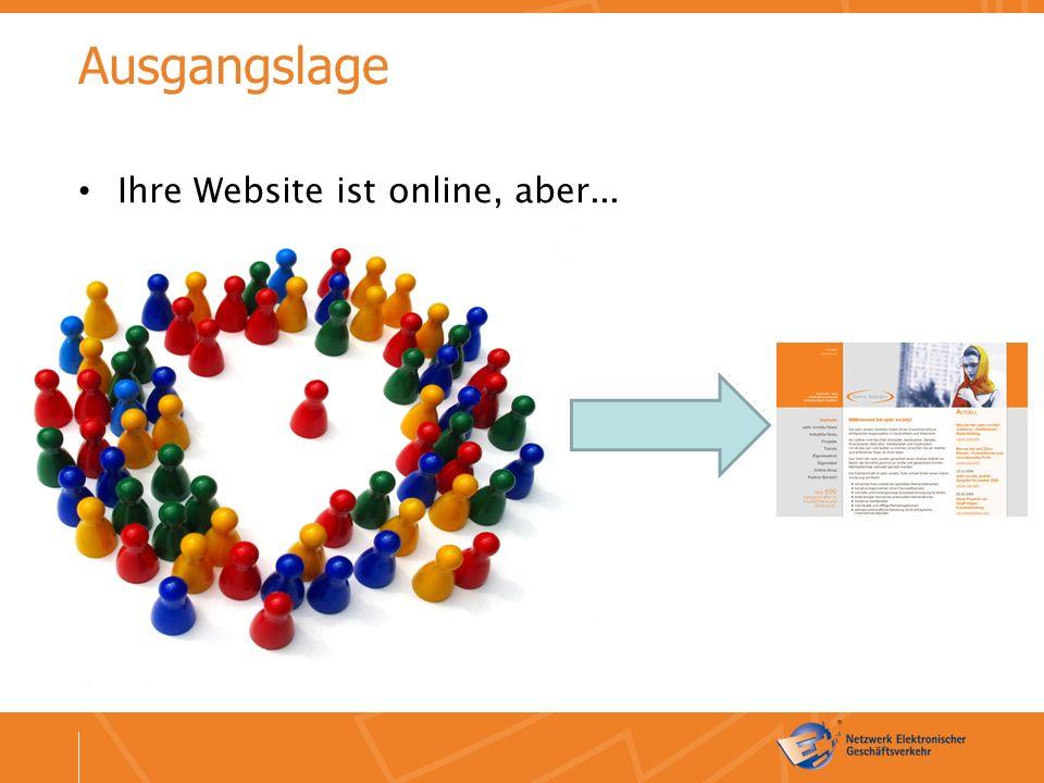 Ausgangslage Ihre Website ist online, aber...
