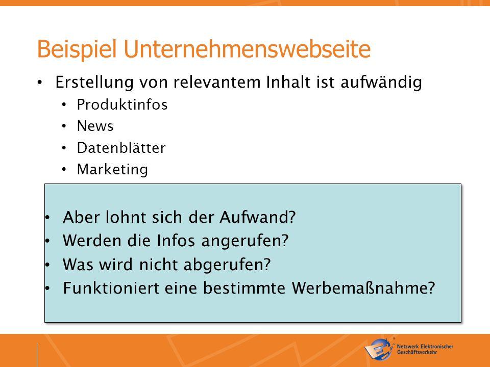 Beispielhafte Ziele (1) Contentseite: Mehr Werbekontakte verkaufen (z.B. Spiegel, T-Online)
