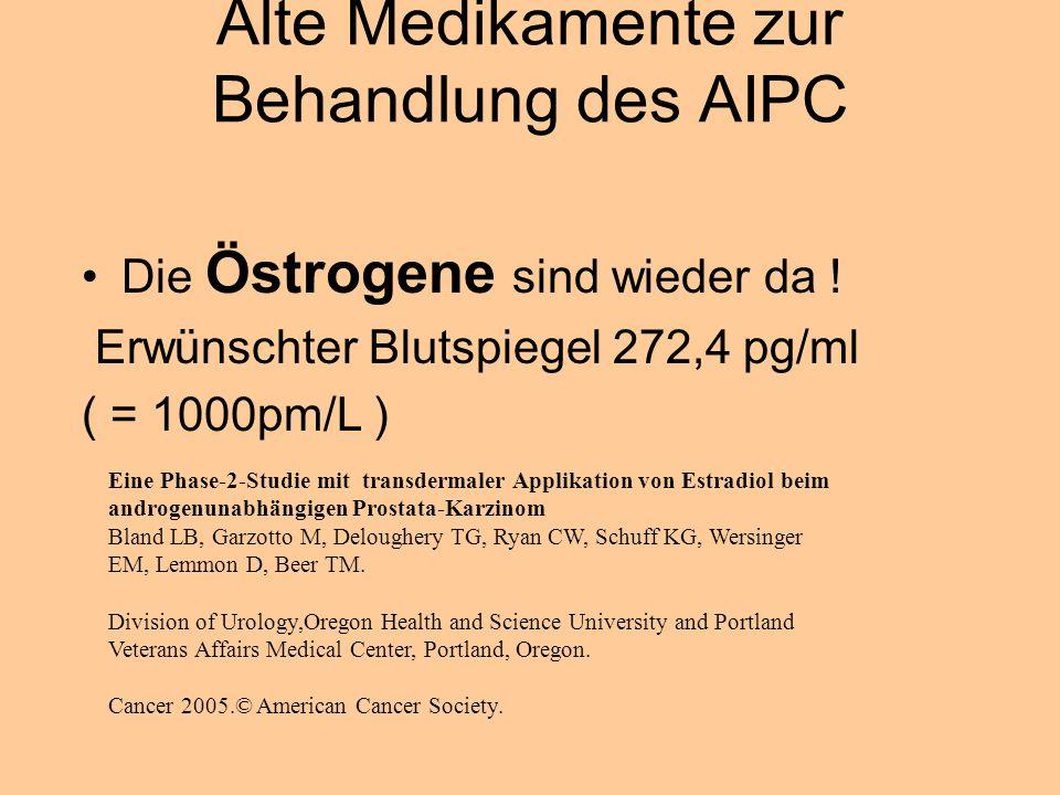 Alte Medikamente zur Behandlung des AIPC Die Östrogene sind wieder da .
