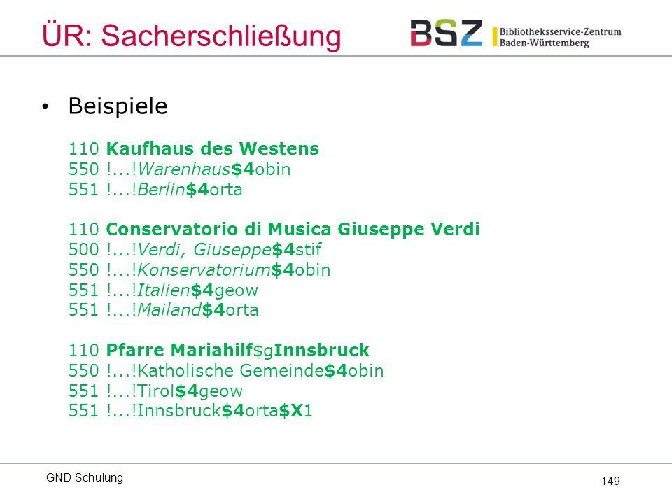 149 Beispiele 110 Kaufhaus des Westens 550 !...!Warenhaus$4obin 551 !...!Berlin$4orta 110 Conservatorio di Musica Giuseppe Verdi 500 !...!Verdi, Giuse
