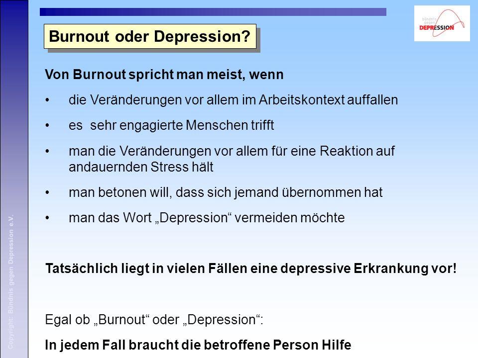 Copyright: Bündnis gegen Depression e.V. 3. Häufigkeit 3. Häufigkeit