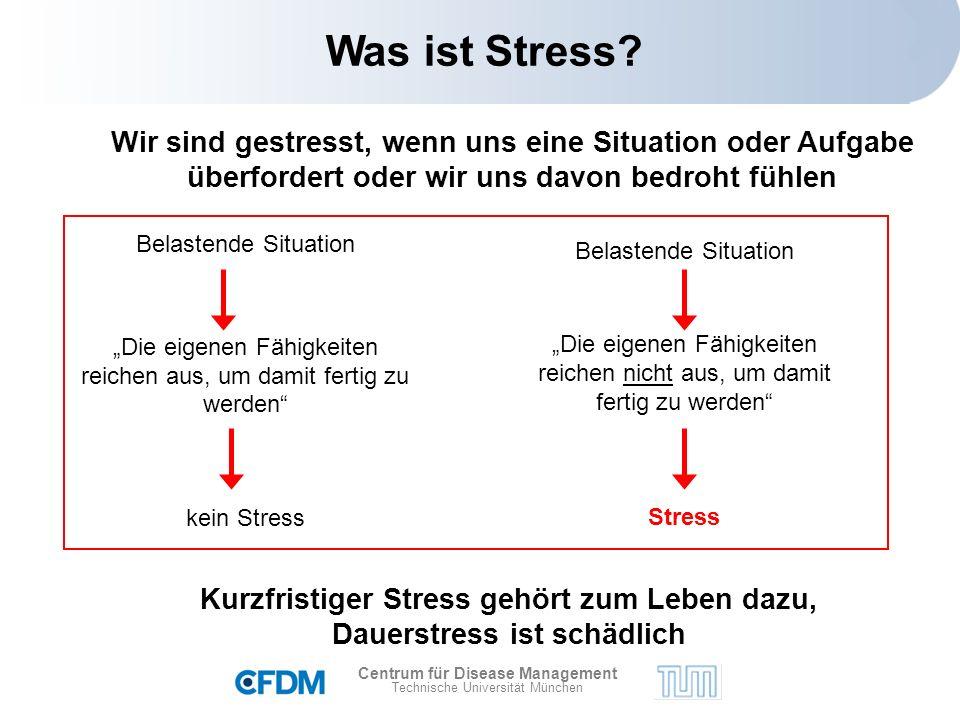 Centrum für Disease Management Technische Universität München Was ist Stress.