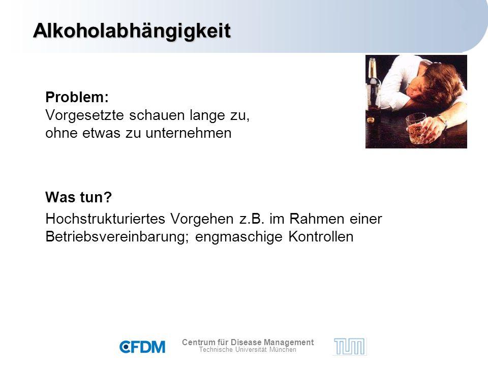 Centrum für Disease Management Technische Universität München Problem: Vorgesetzte schauen lange zu, ohne etwas zu unternehmen Was tun.