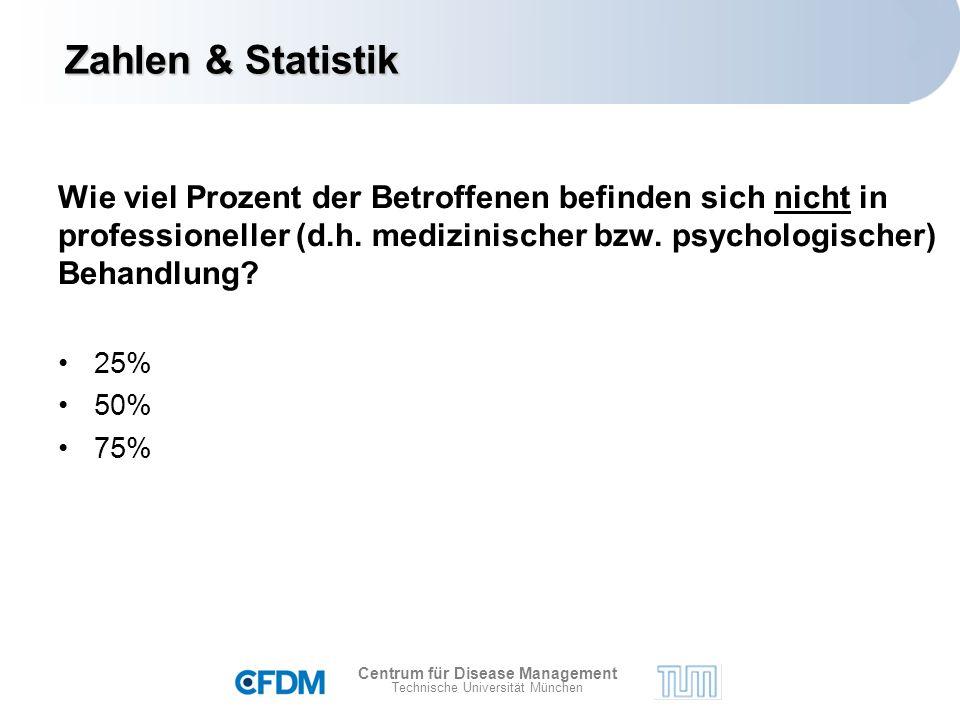 Centrum für Disease Management Technische Universität München Wie viel Prozent der Betroffenen befinden sich nicht in professioneller (d.h.
