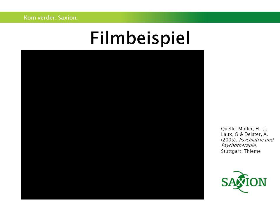 Kom verder. Saxion. Filmbeispiel Quelle: Möller, H.-J., Laux, G & Deister, A.