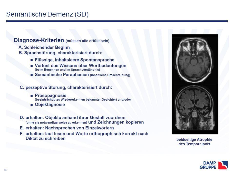16 Semantische Demenz (SD)