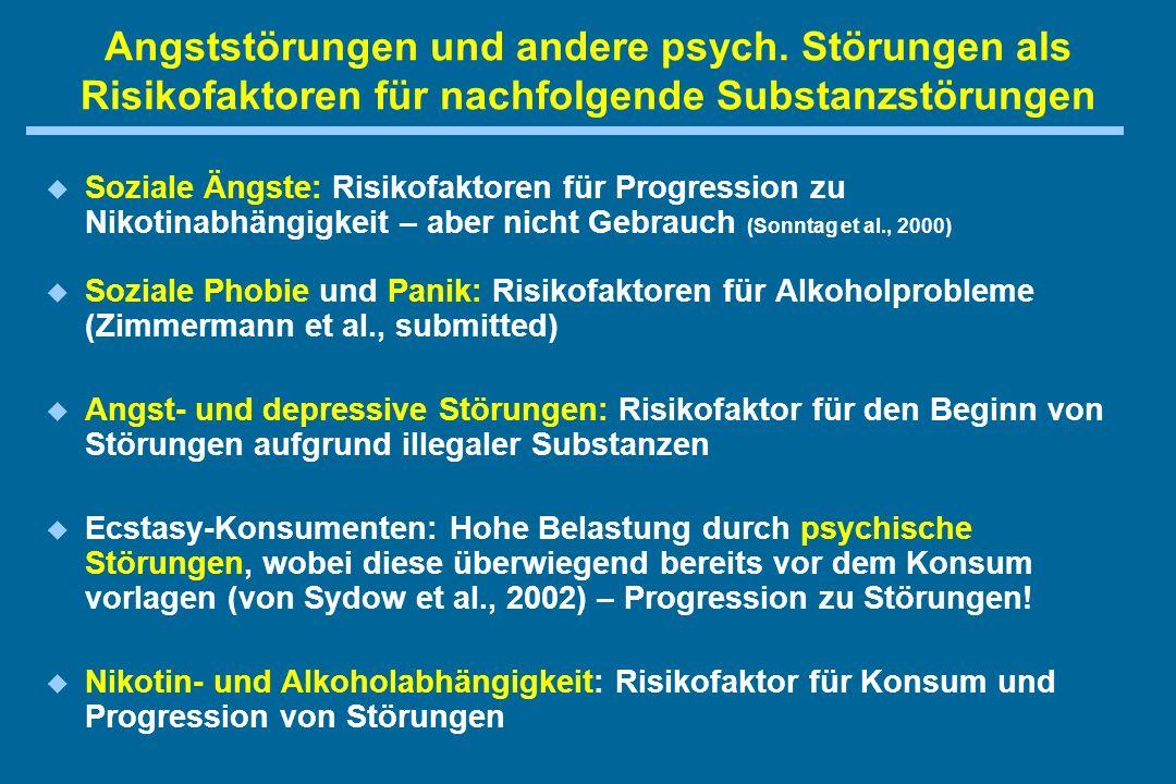 Angststörungen und andere psych.