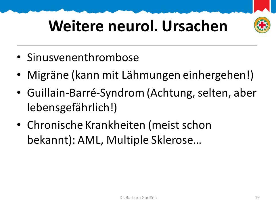 Weitere neurol.