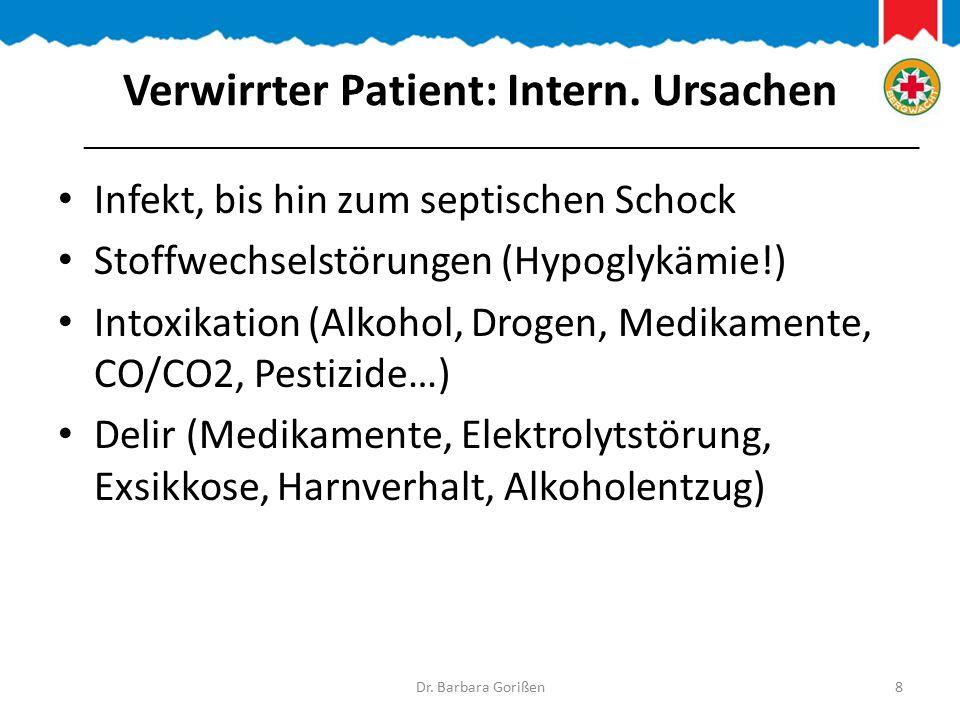 … weitere intern.Ursachen Unverträglichkeitsreaktion (z.B.
