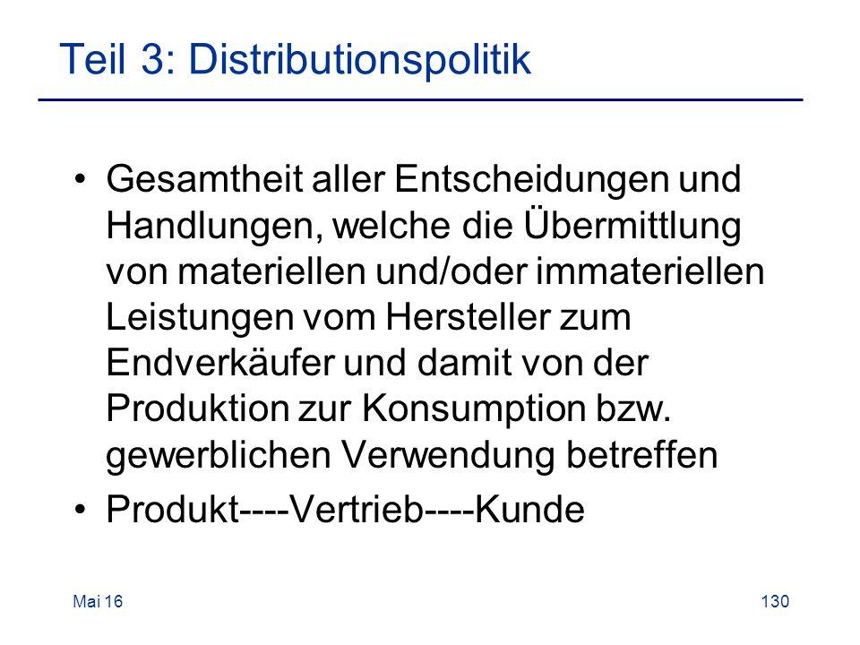 Gesamtheit aller Entscheidungen und Handlungen, welche die Übermittlung von materiellen und/oder immateriellen Leistungen vom Hersteller zum Endverkäufer und damit von der Produktion zur Konsumption bzw.