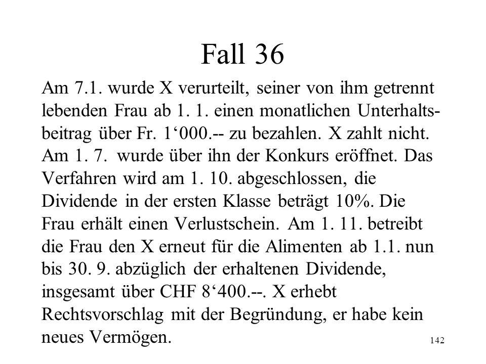 141 Verlustschein (2) Neue Betreibung nur bei neuem Vermögen Begriff des neuen Vermögens (265 II) Geltendm.
