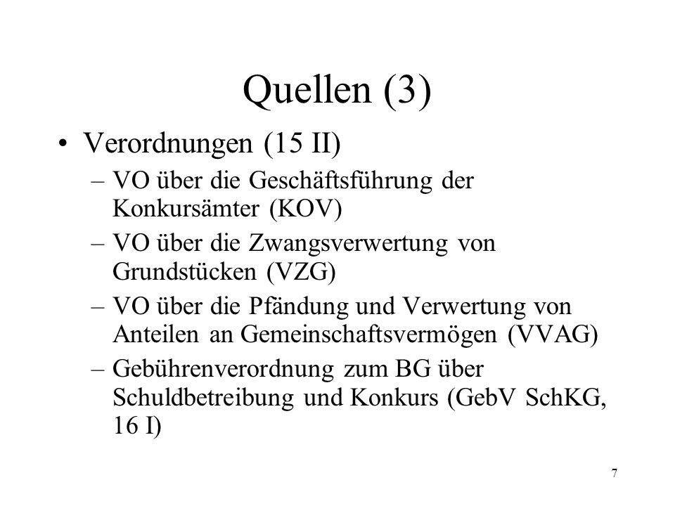 6 Quellen (2) Staatsverträge –Lugano-Übereinkommen (rev. LugÜ) –Haager Übereinkunft betr. Zivilprozessrecht v. 1. 3. 1954 –Haager Übereinkunft betr. Z