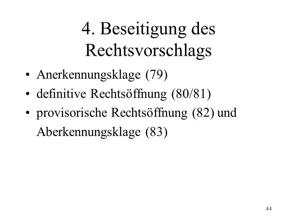 """43 Fall 9 Ein Schuldner schreibt in der Rubrik """"Rechtsvorschlag"""" gegen eine Betreibung des Betreibungsamtes Basel-Stadt über Fr. 1'000.--: """"Bestreite"""