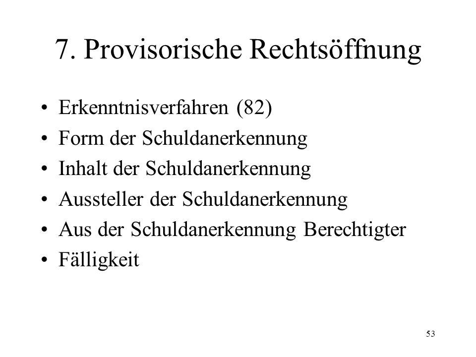 52 Fall 11 Gläubiger G verlangt in einer Betreibung gegen Schuldner S an dessen Wohnsitz in Basel aufgrund eines Urteiles des Bezirks- gerichtes Züric