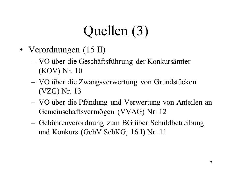 6 Quellen (2) Staatsverträge –Lugano-Übereinkommen (rev. LugÜ) –Haager Übereinkunft betr. Zivilprozessrecht vom 1. 3. 1954 –Haager Übereinkunft betr.