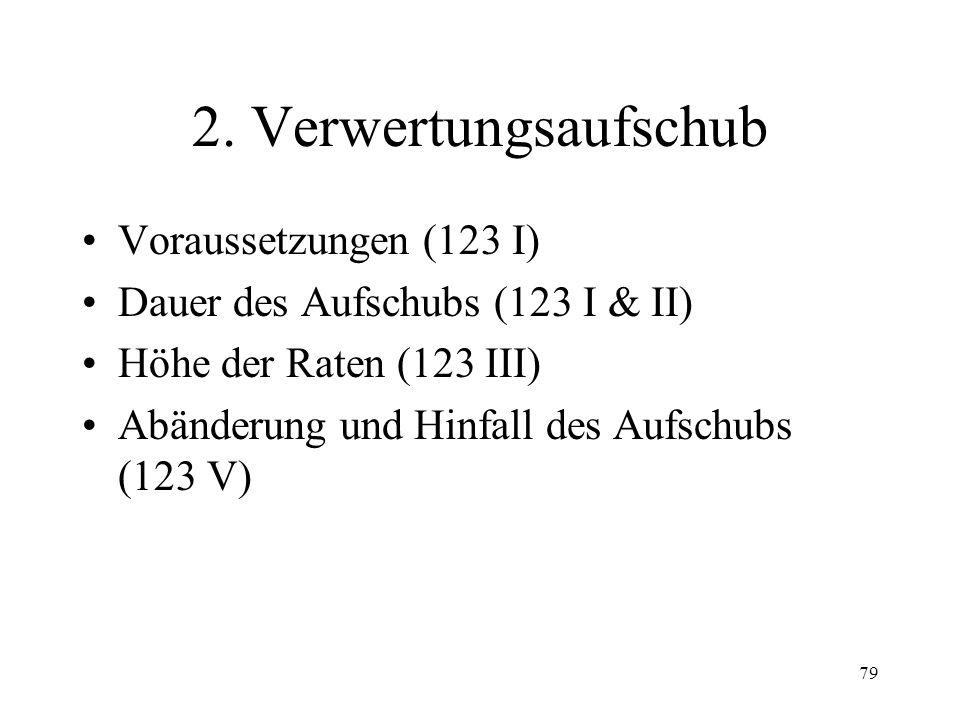 78 V. Verwertungsverfahren 1. Verwertungsbegehren Legitimation (117) Form Frist (116) Rückzug (121) Verwertung ohne Begehren (124 II)