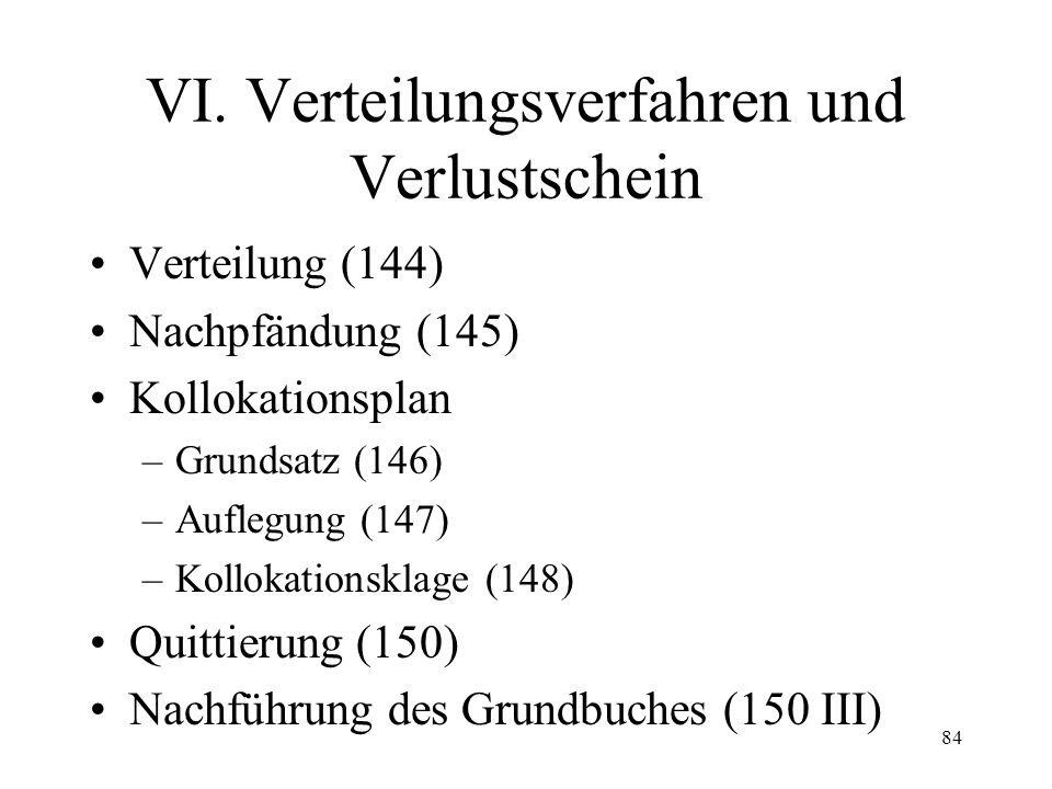 83 Fall 20 In einem Lastenverzeichnis in einer Betreibung auf Pfändung ist eingetragen: –Schuldbrief im ersten Rang über Fr. 100'000.--, fällig (Datum