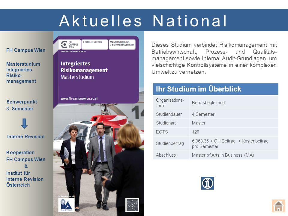 Seit nahezu 20 Jahren führen das IIRÖ - Institut für Interne Revision Österreich, das DIIR – Deutsches Institut für Interne Revision e.V., und der SVI