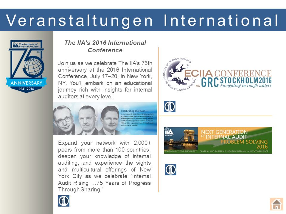 Save the Date Let's Talk Audit 29. September Teilnahme nur auf Einladung möglich! Let's Talk Audi t 9. November Teilnahme nur auf Einladung möglich! E