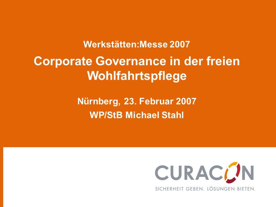 Werkstätten:Messe 2007 Corporate Governance in der freien Wohlfahrtspflege Nürnberg, 23.