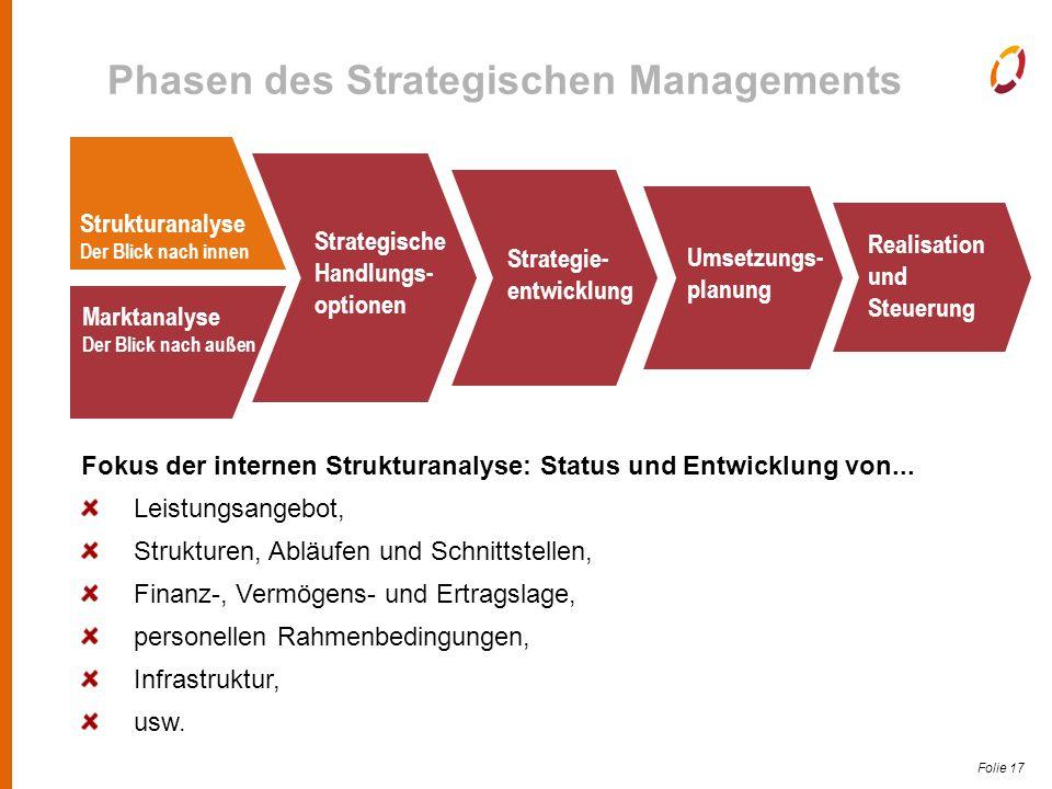 Folie 17 Fokus der internen Strukturanalyse: Status und Entwicklung von...