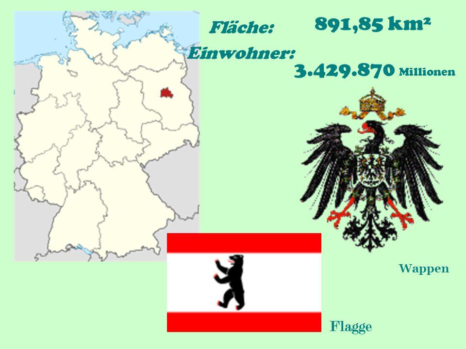 Fläche: 891,85 km² Einwohner: 3.429.870 Millionen Flagge Wappen