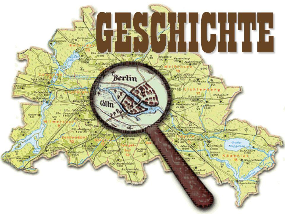 Die Stadt entwickelt sich Ende des 12.Jahrhunderts aus den beiden Kaufmannssiedlungen Berlin und Colln, gelegen zu beiden Seiten der Spree 1237 Das Jahr 1237 gilt als offizielles Jahr der Stadtgrundung.