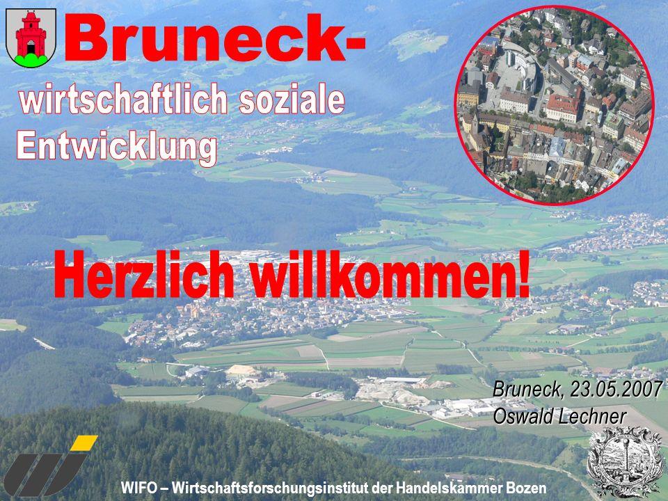 WIFO – Wirtschaftsforschungsinstitut der Handelskammer Bozen Bruneck, 23.05.2007 Oswald Lechner