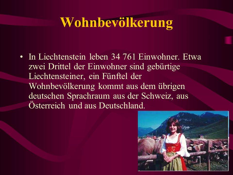 Wohnbevölkerung In Liechtenstein leben 34 761 Einwohner.