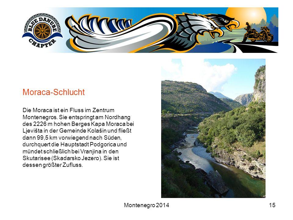 Montenegro 201415 Moraca-Schlucht Die Moraca ist ein Fluss im Zentrum Montenegros. Sie entspringt am Nordhang des 2226 m hohen Berges Kapa Moraca bei