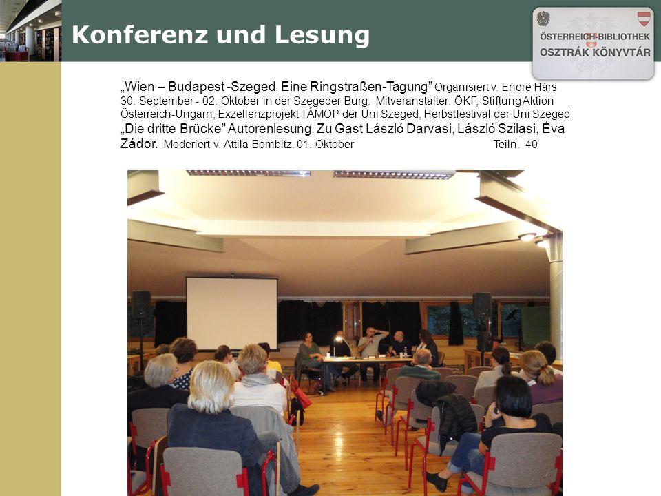 """""""Wien – Budapest -Szeged. Eine Ringstraßen-Tagung Organisiert v."""