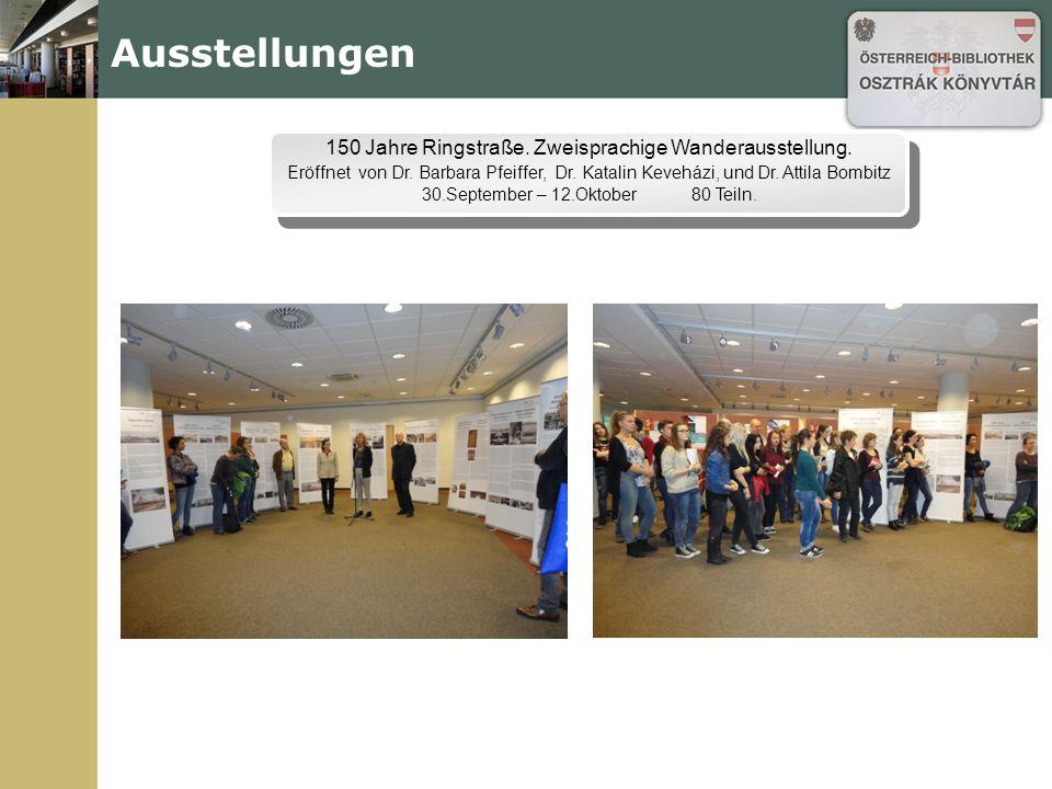 Ausstellungen 150 Jahre Ringstraße. Zweisprachige Wanderausstellung.