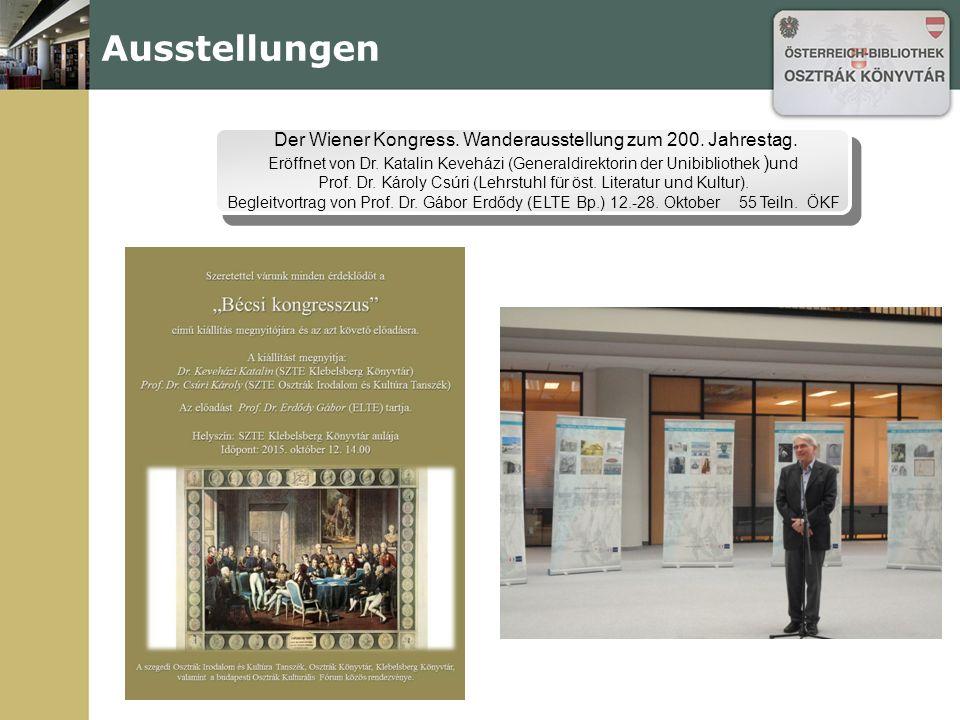 Ausstellungen Der Wiener Kongress. Wanderausstellung zum 200.