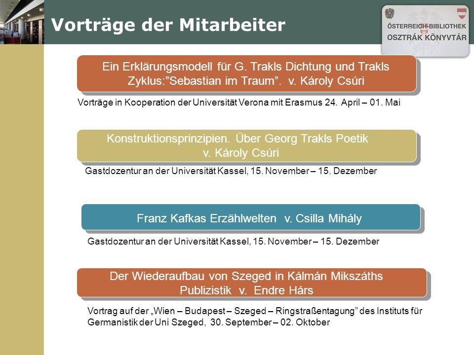Publikationen Márta Horváth Orientierung in mentalen Räumen: Literarische Wiederholungen aus der Sicht der kognitiven Poetik am Beispiel von Adalbert Stifters Bergkristall.