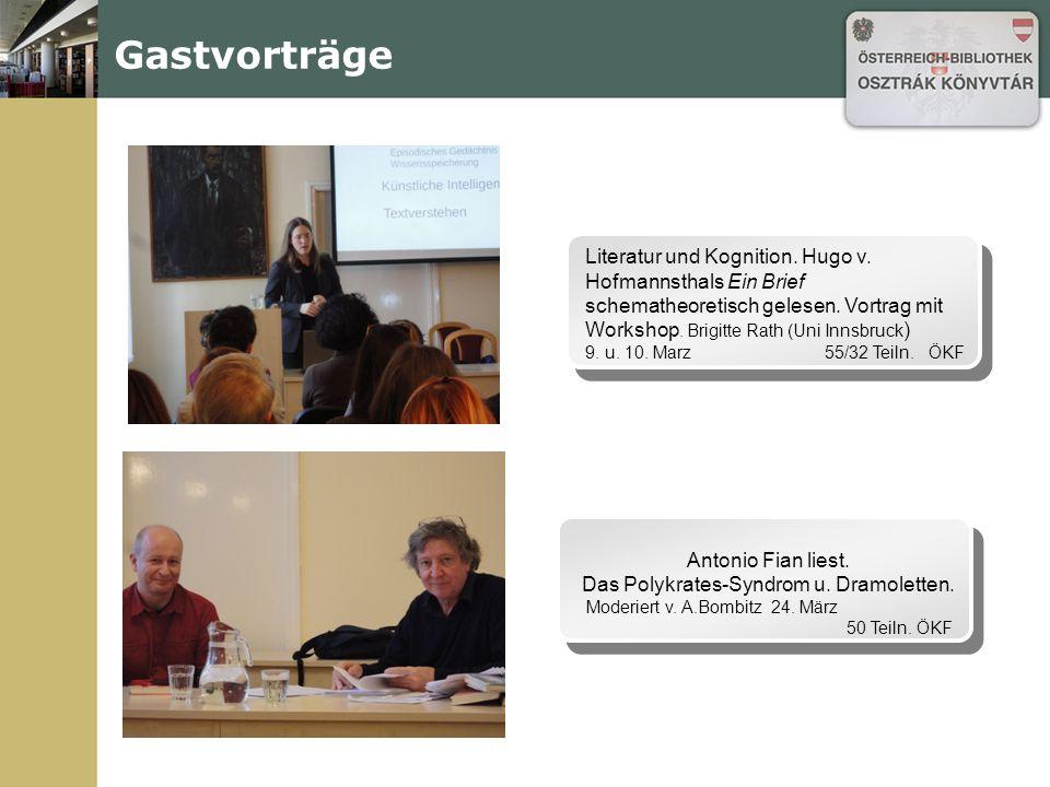 Gastvorträge R.I.L.K.E.Buchpräsentation und Podiumsdiskussion mit dem Übersetzer Csaba Báthori.